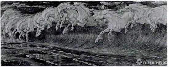 瓦尔特·克兰《海神驹》1892年