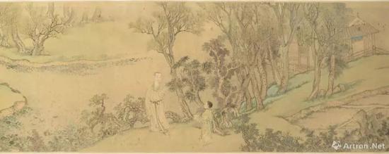 王翬、焦秉贞,《安歧像卷》(局部),1698年。