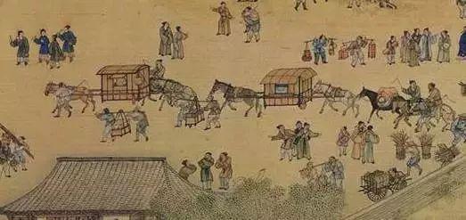 清摹本《清明上河图》中的马轿