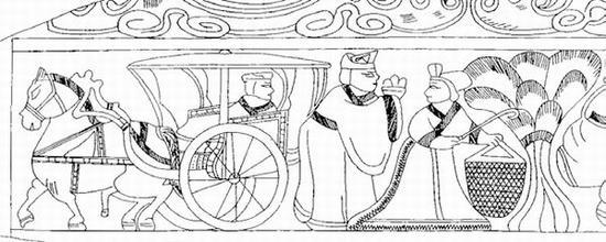 图12 曹操墓被盗画像石第四石左侧画像