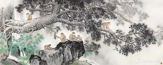 19 方楚雄 1994年作 松猴图 镜片 RMB 1,200,000-1,800,000