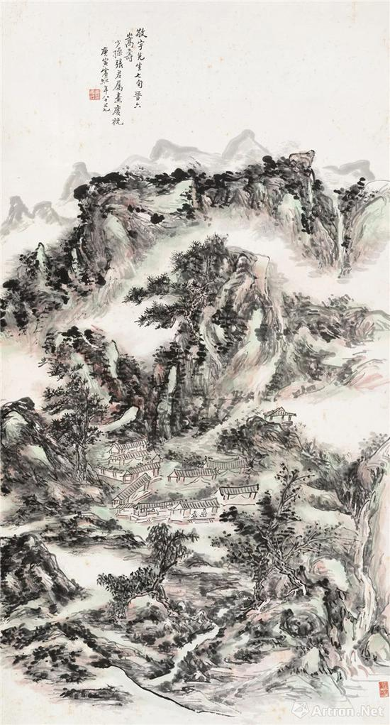黄宾虹 《山居图》,成交价:3105万元