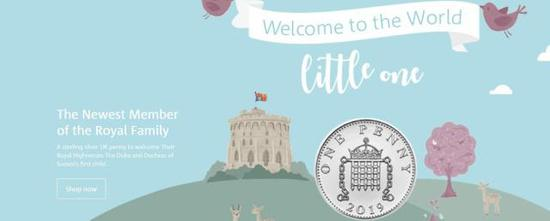 英国迎来小王子之后发行王室新生儿纪念币