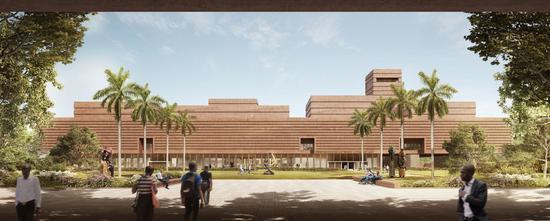 用于摆放归还文物的贝宁市西非艺术博物馆效果图