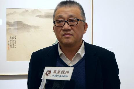 炎黄艺术馆崔晓东馆长接受媒体参访