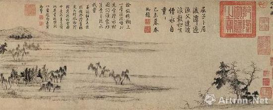 元 赵孟頫 纸本设色 北京故宫博物院藏