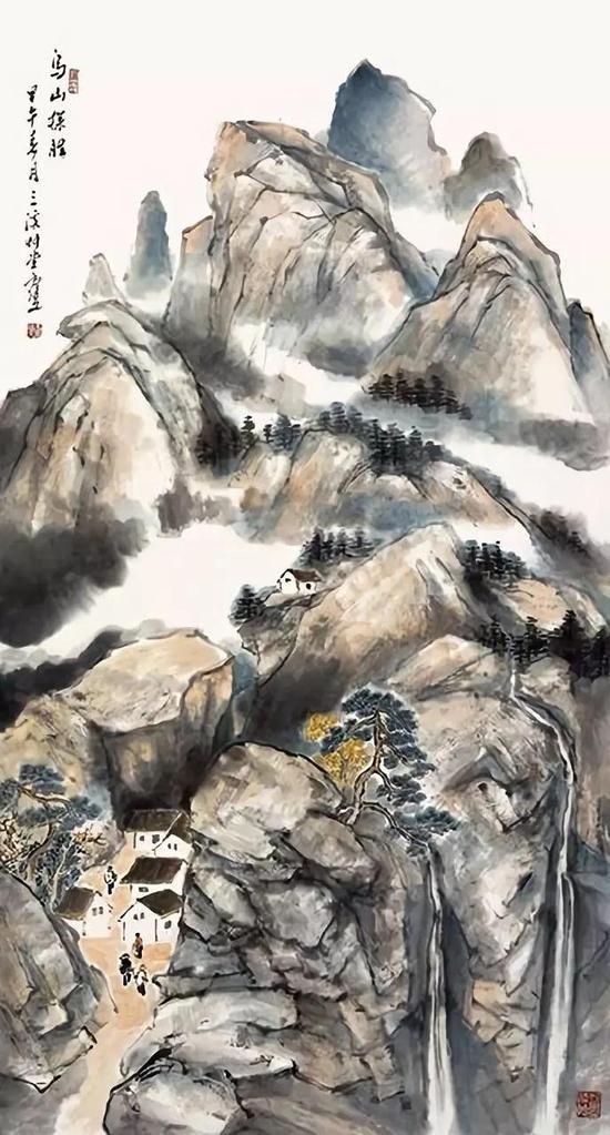 乌山探胜 180×97cm 2014年