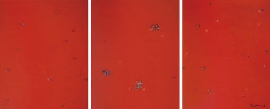 《红》,布面丙烯,300 x200cmx3,2021