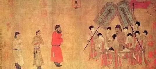 ▲阎立本步辇图 故宫博物院藏