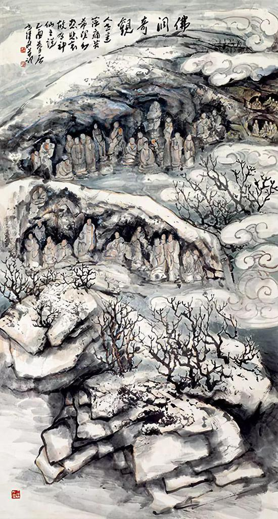 佛洞奇观 180×97cm 2005年