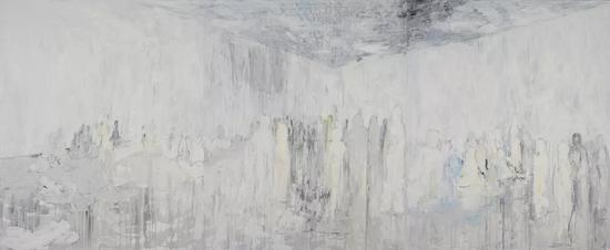 非相,布面油画,5.1x2.5m,2015