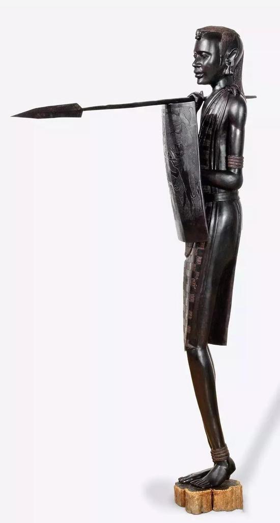 马赛人 佚名(坦桑尼亚)2003年 183×38×133cm