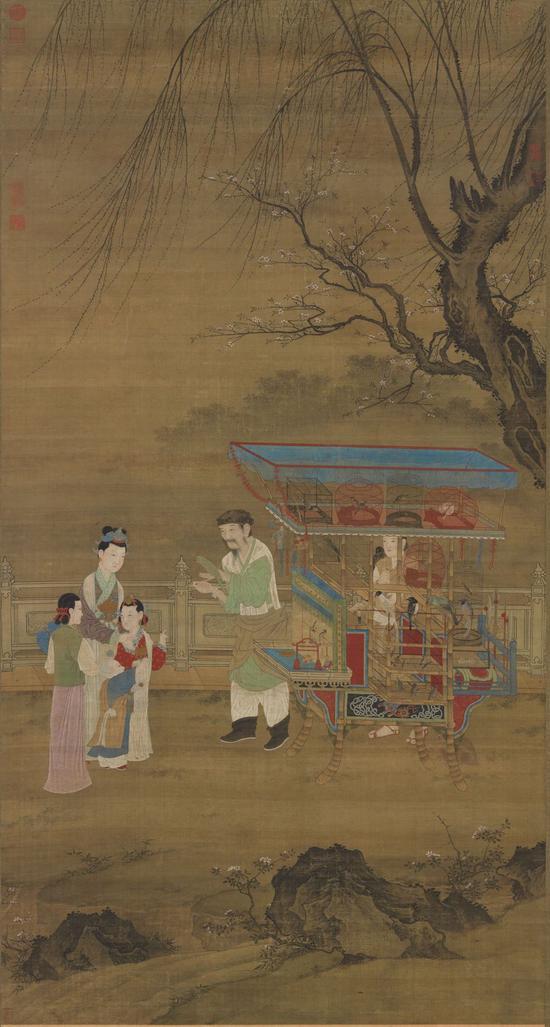 元人 《春景货郎图》 台北故宫博物院藏