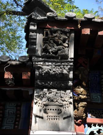 博物馆戗檐砖雕
