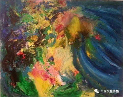 《忧伤的聚合》 120cm ×100cm 布面油画