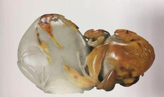 清乾隆白玉桃榴佛手摆件 苏州博物馆藏