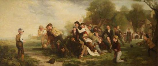 托马斯·韦伯斯特 《足球赛》 (1839)