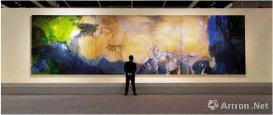 赵无极三联画《1985年6月至10月》