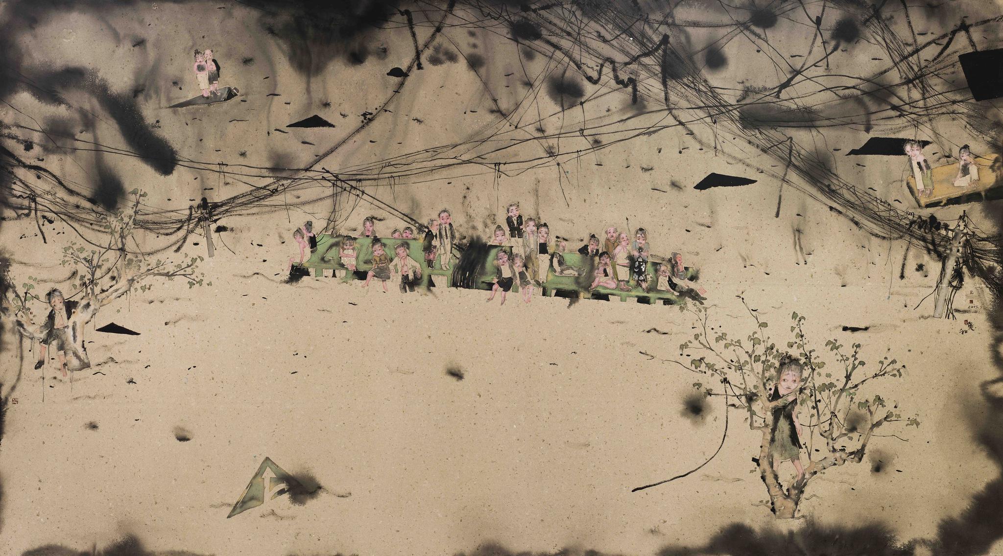 绿岛 刘庆和 270x500cm 纸本水墨 2013