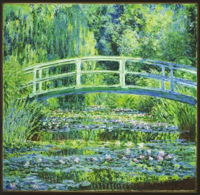 ④普林斯顿大学艺术博物馆藏莫奈油画《日本桥》(本版图片均为资料图片)