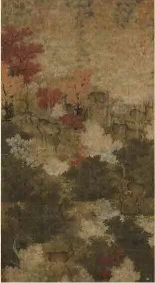 《秋林群鹿》五代 台湾 台北 国立故宫博物院藏