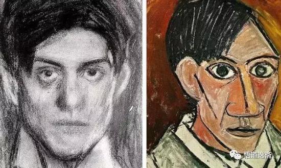 15岁到90岁毕加索的标志性自画像