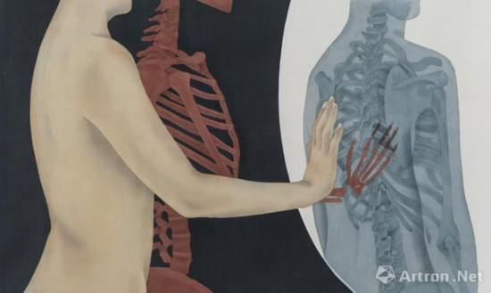 武一杉《触碰》 80×60cm 绢本设色