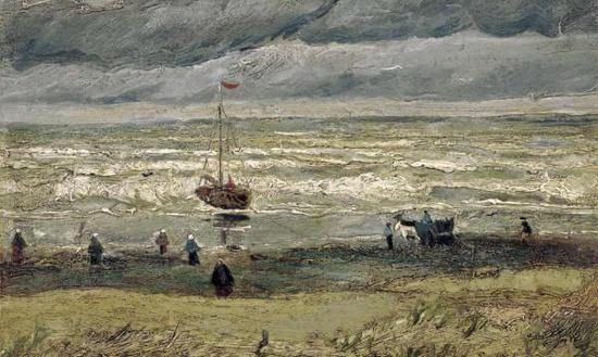 《Sea at Scheveningen(斯赫弗宁的海景)》,凡高