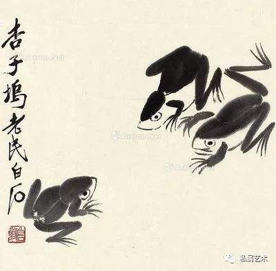 齐白石 青蛙  图片来自网上