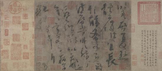 杨凝式(唐)《夏热帖》 草书 纸本23.8×33cm
