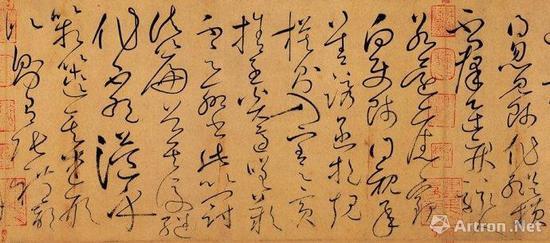 怀素 《自叙帖》(局部) 台北故宫博物院藏