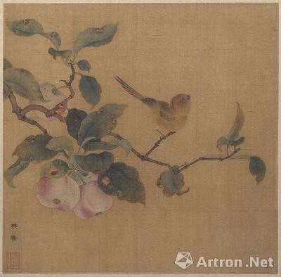 南宋 林椿《果熟来禽图》 北京故宫博物院收藏 纵26.9cm,横27.2cm
