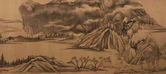 董其昌 《烟江叠嶂图卷》 上海博物馆藏