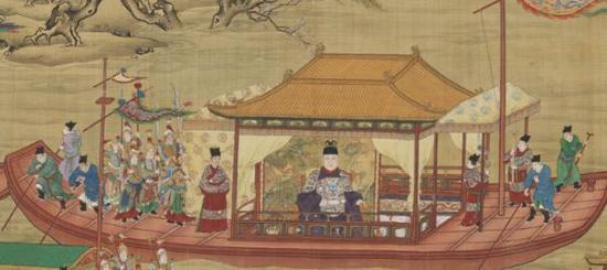 台北故宫古画动漫讲述明代皇帝骑马出京与坐船还宫