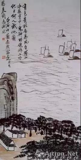齐白石赠送给周恩来的作品 《松帆图》