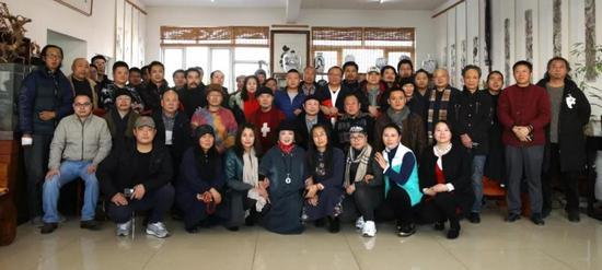 个山八友画展在北京个山美术馆隆重举行