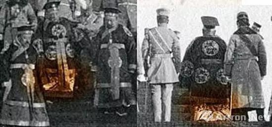 ▲明显可见穿十二章纹的袁世凯穿着与周围人不同