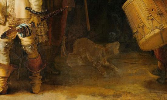 画作中泛白的小狗形象? Rijksmuseum, Amsterdam