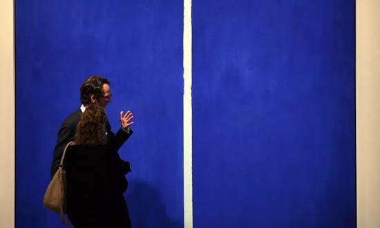 巴尼德·纽曼的作品 Onement VI 曾于2013年以