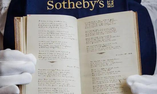 艾米莉·勃朗特的手稿。图源《卫报》。