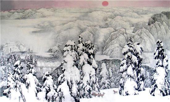 二、戴成有大写意瑞雪山水成因解读
