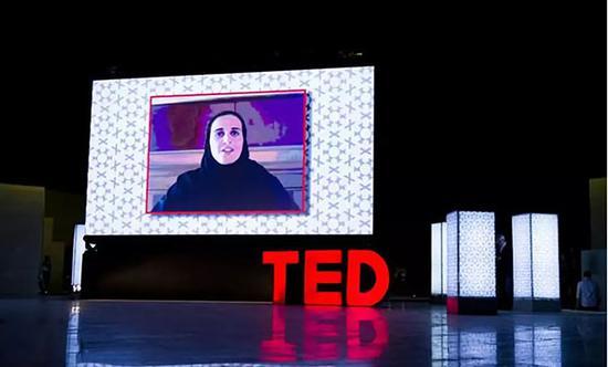 ▲玛雅莎在TED发表演讲