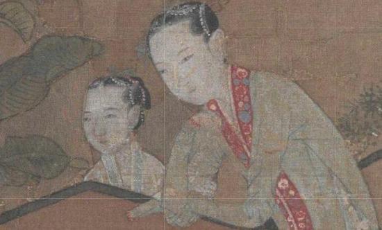 ▲宋 佚名 《蕉荫击球图》局部 北京故宫博物院藏