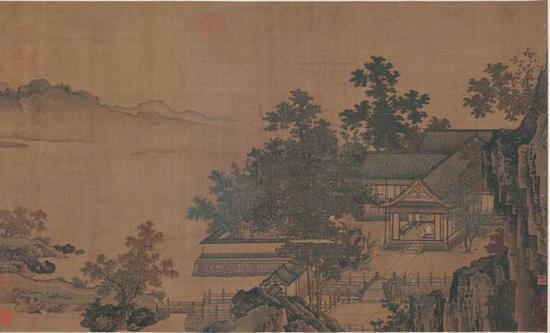 刘松年(南宋)《四景山水图卷》之秋景