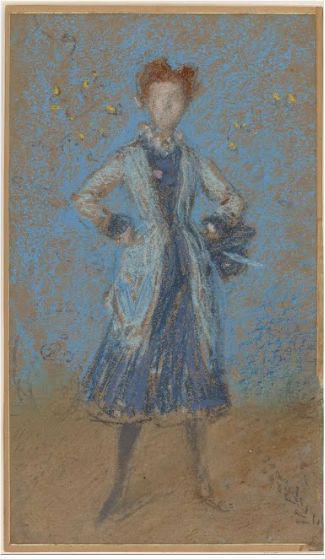 蓝色女孩,印象派画家詹姆斯·惠斯勒,1873-1876。