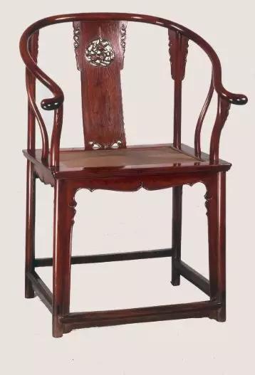 黄花梨透雕靠背圈椅明 上海博物馆藏