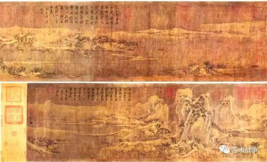 (庞元济旧藏 宋徽宗《雪江归棹图卷》)