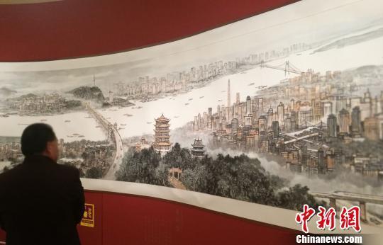 《长江万里图》局部