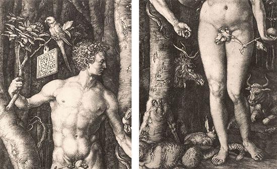 《亚当与夏娃》局部