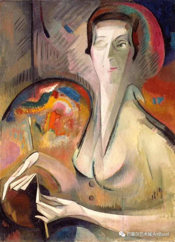 《Self-Portrait》(1917),Alice Bailly,图片由美国国家妇女艺术博物馆(National Museum of Women in the Arts)提供